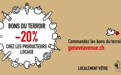Opération Bons du terroir! Profitez d'un rabais de 20%! Plus d'infos sur geneveavenue.ch